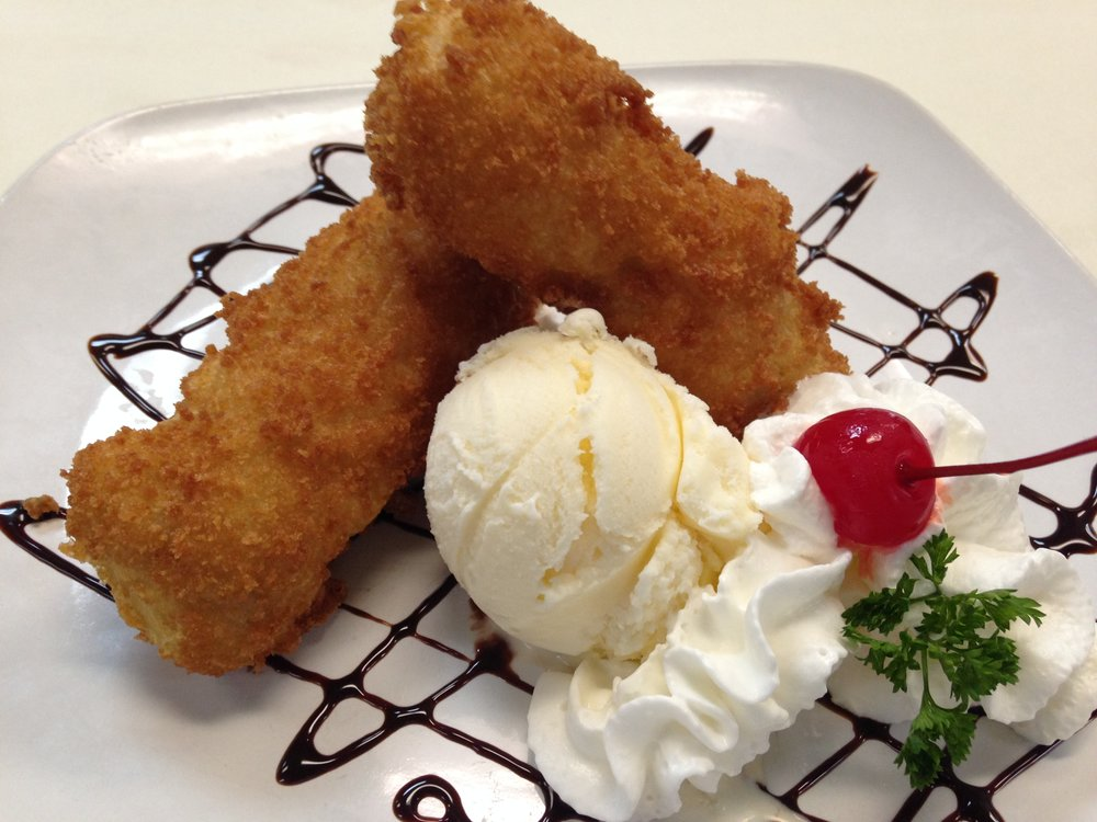 fried banana with ice cream - 5.00