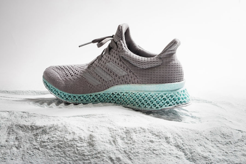 Fig 1.  Adidas, Ultraboost trainer, 2016.  https://www.slashgear.com/adidas-and-parley-for-the-oceans-unveil-running-shoe-made-from-ocean-trash-14418262/#jp-carousel-418264