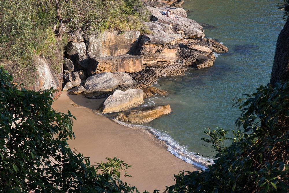 small local beach in sydney