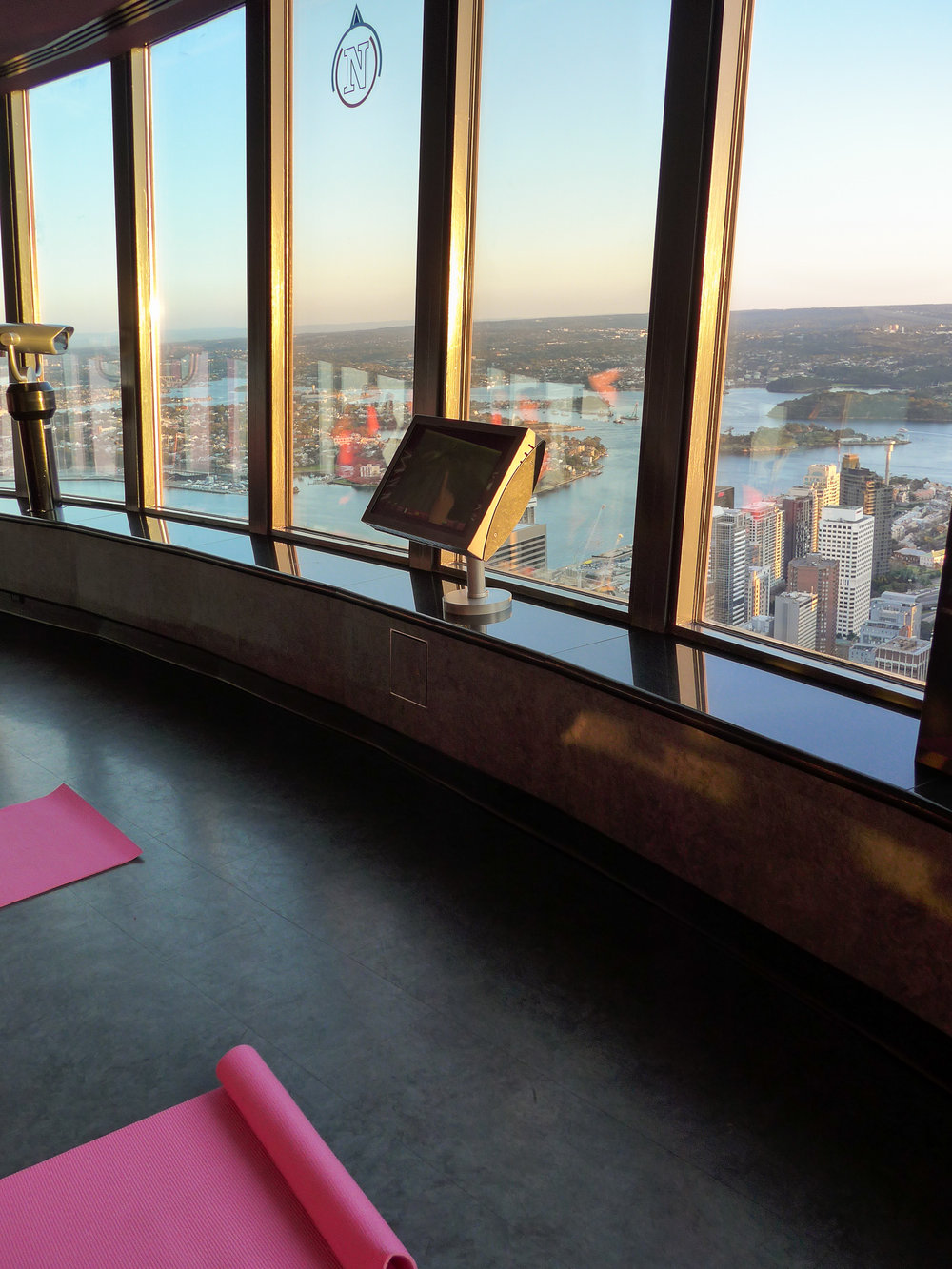 yoga class from the sydney tower