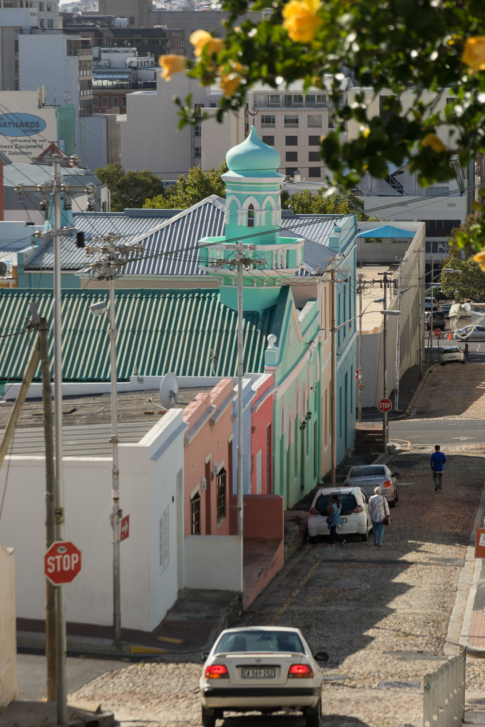 colorful street in bo kaap cape town