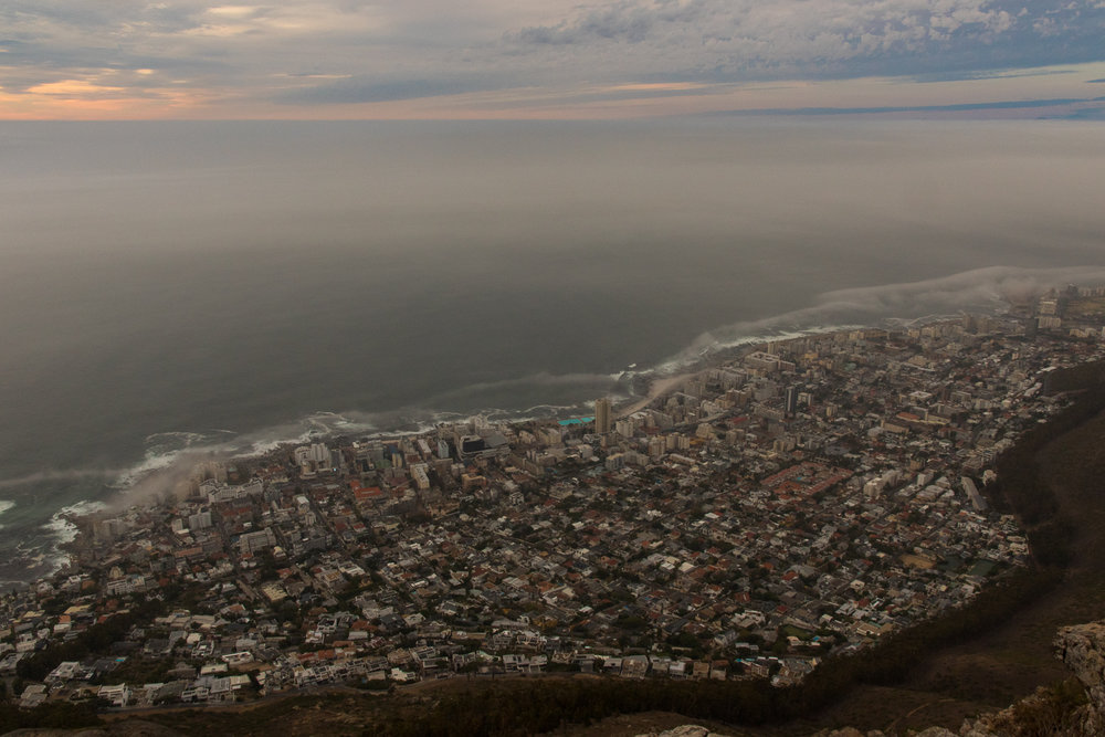 cape town city from lions head