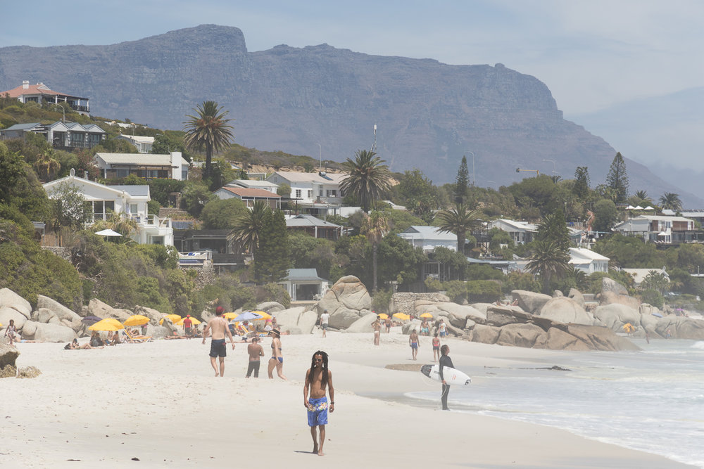 solo traveler on beach in cape town