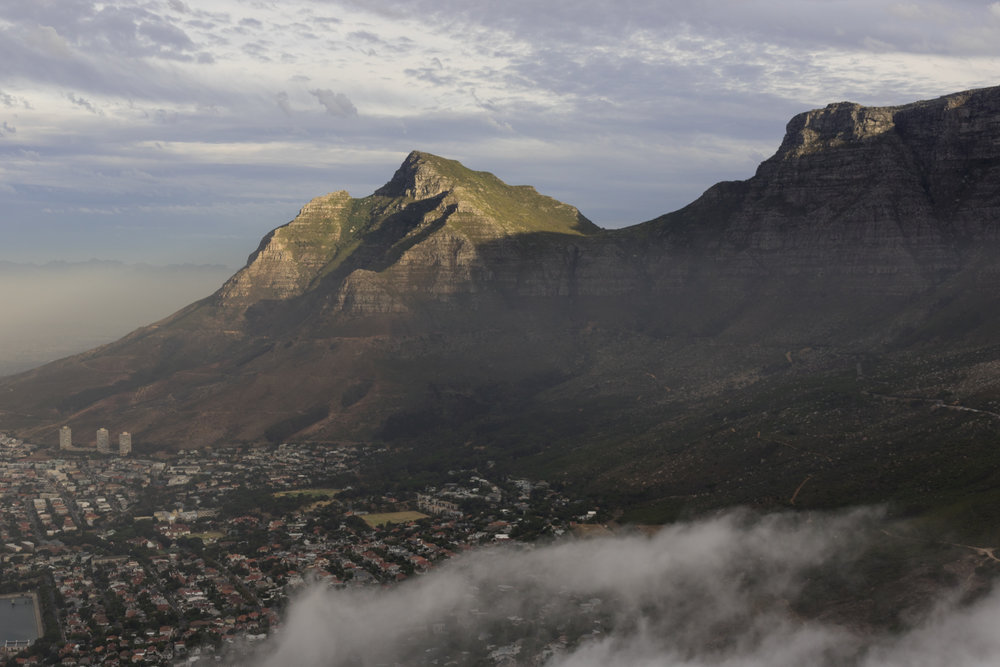 cape town mountains at sunset