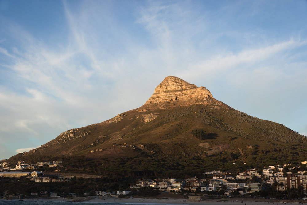 lion's head mountain at sunset