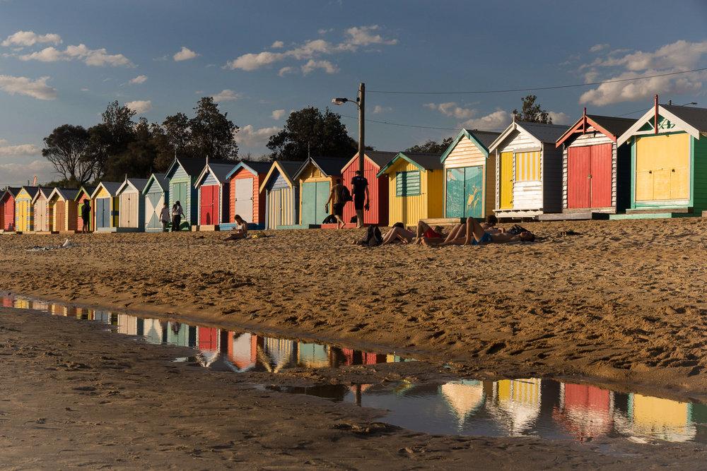 melbourne_beachboxes_sunset