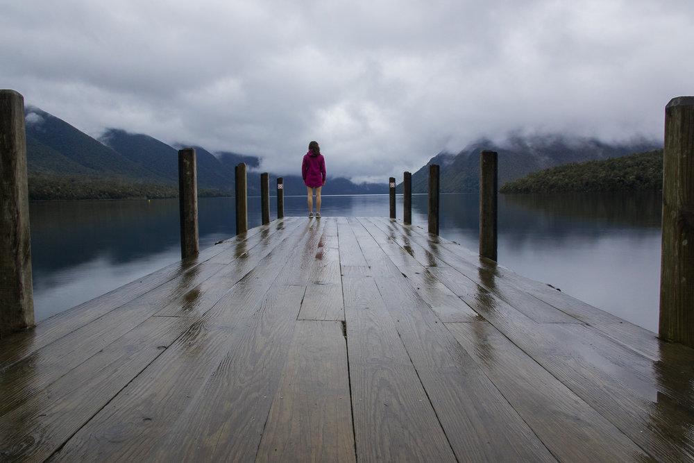 lake_jetty_hiker