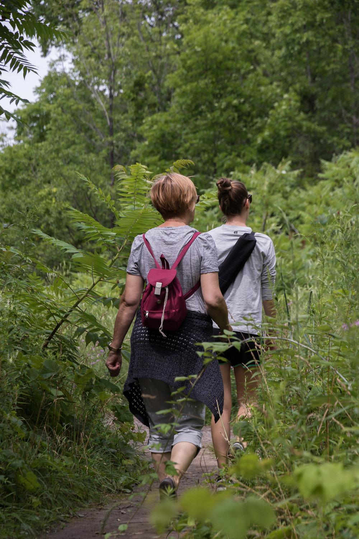 women hiking in the ontario