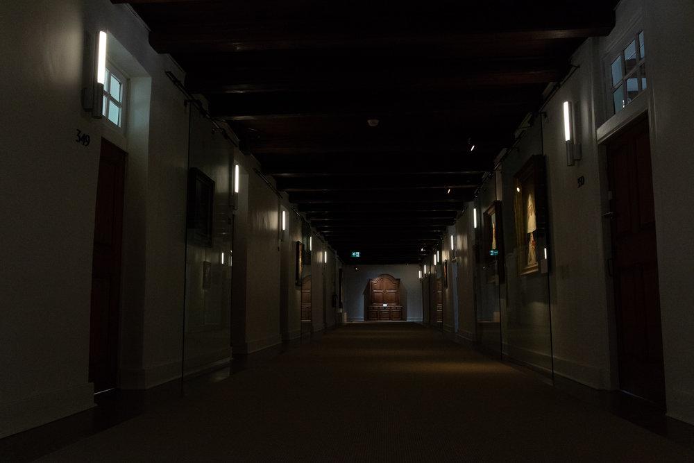 hallway of quebec monastery