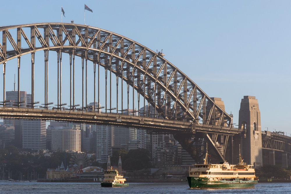 Sydney Harbour Bridge during the day