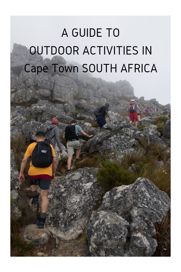 hikers getting adventurous in Cape Town South Africa
