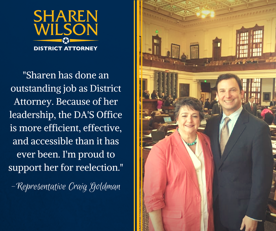 -Sharen has done an outstanding job as District Attorney. Because of her leadership, the DA'S Office is more efficient, effective, and accessible than it has ever been. I'm proud to support her for reelection.-.png