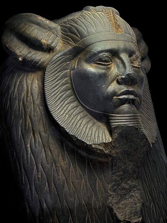 Egyptian Statue with Lion Head