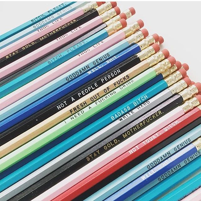 We love some snarky pencils in our office. Think we might need to make an order @sweetperversion!