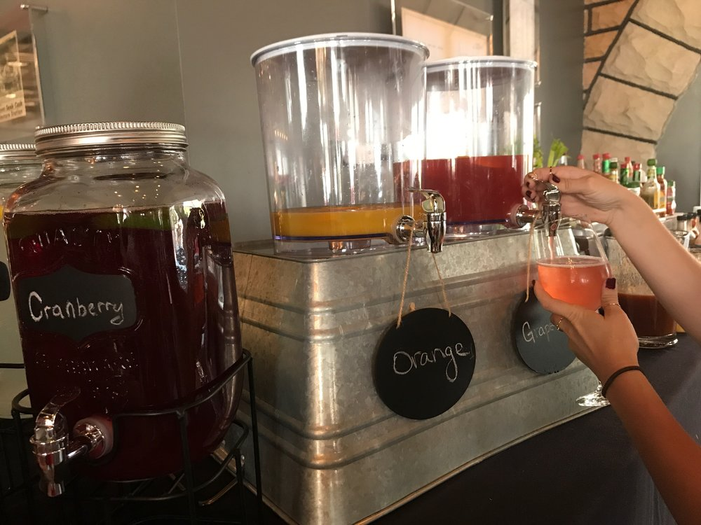 Build your own Mimosa or Bloody Mary... We're in love.