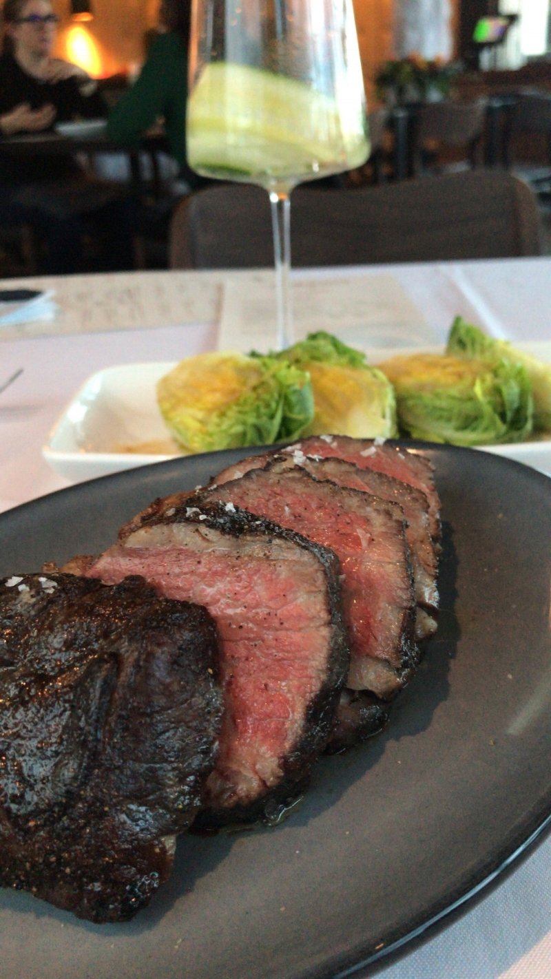 We shared the Tri-Tip steak for our main course, which was served with a traditional Spanish salad with a simple (but delicious) balsamic dressing. We both made the comment that the steak was one of the absolute best we had ever had. The meat was perfectly cooked, salty in a good way, and just had amazing natural flavor without any need for sauce or excess seasoning. Corrida definitely knows their meat, and it was very clear based upon the quality of this tri-tip.