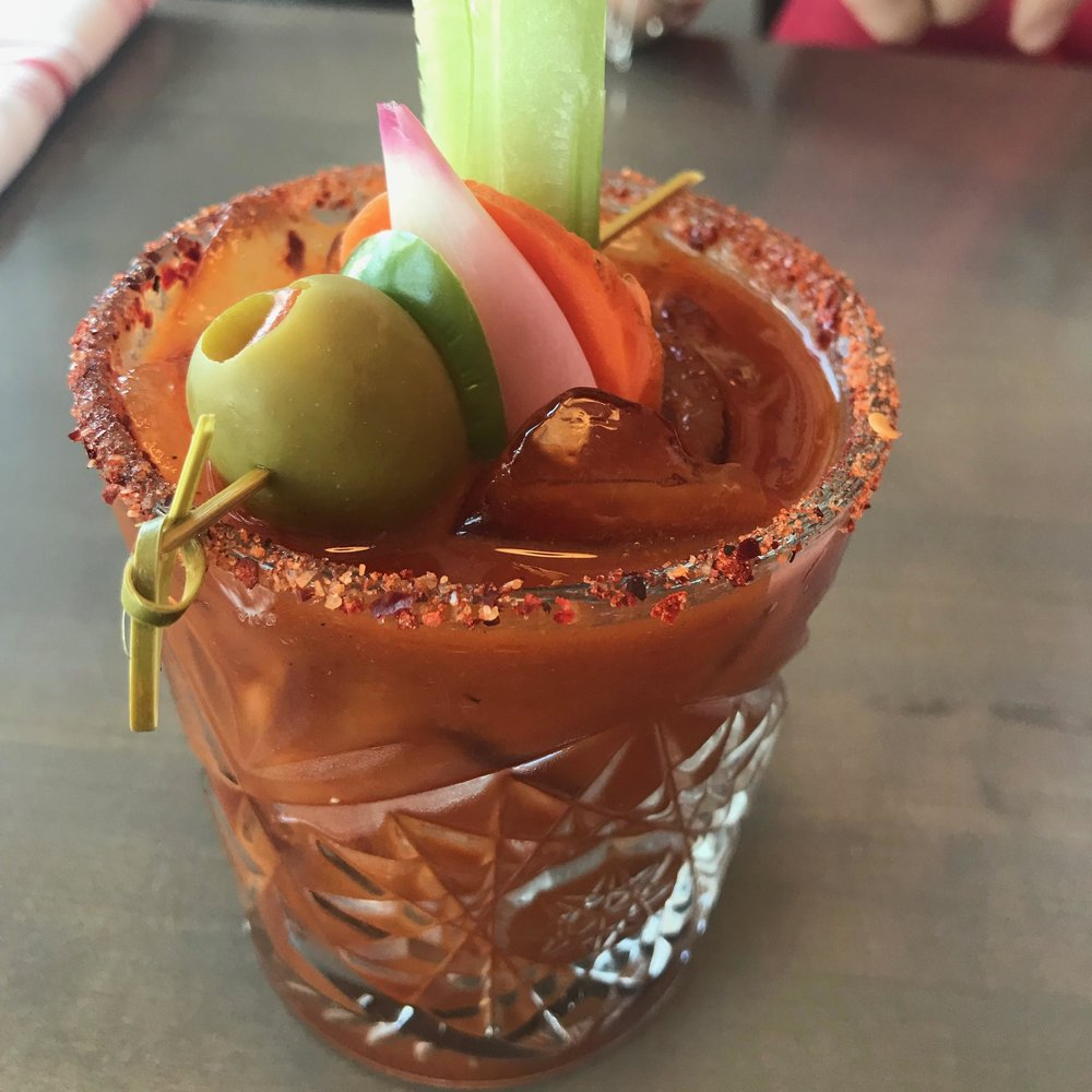 Spring 44 vodka, house-made bloody mix, house pickles