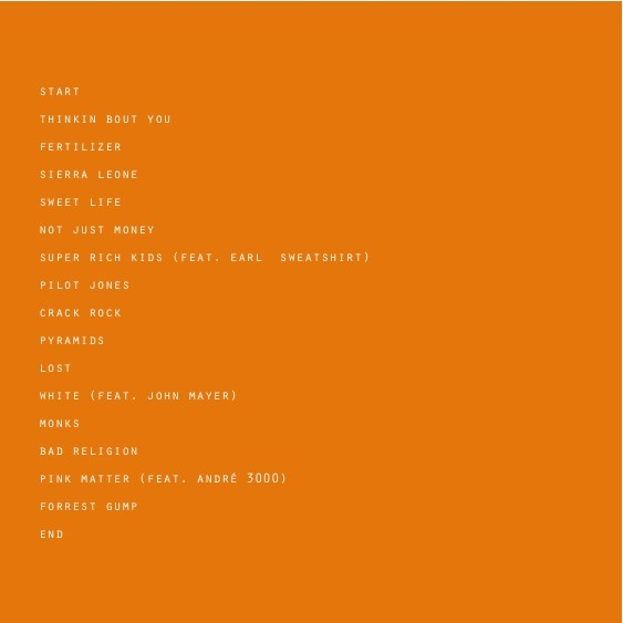 Channel Orange Tracklisting
