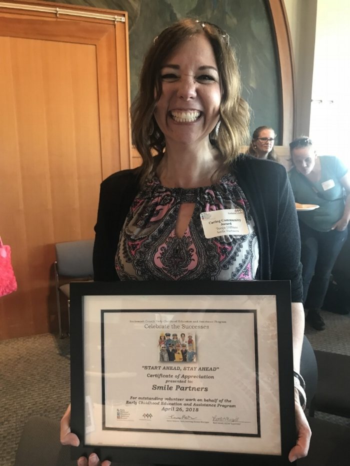 Smile Partners Hygienist Awarded for Helping Students