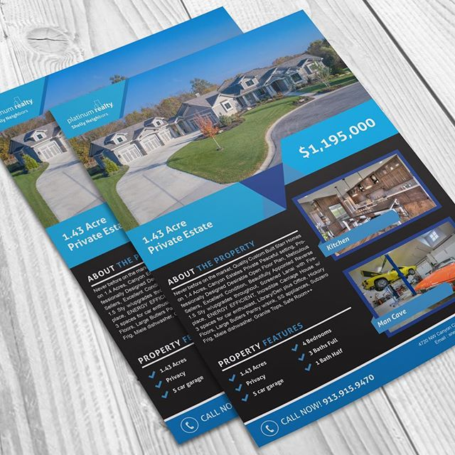 Now offering flyer design to make your print stand out #graphicdesign #realestate #kc