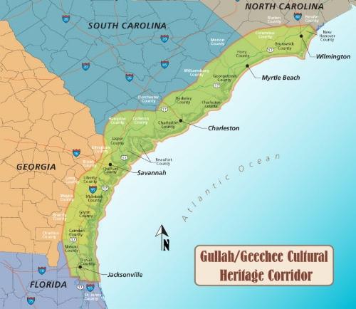 Gullah/Geechee Corridor map