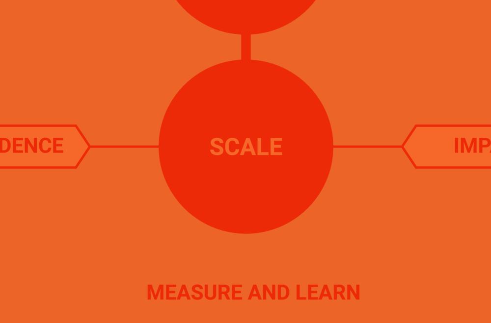 Scale - We support you through the early phases of scaled and sustainable impact, ensuring that you are creating the value that you intended to create.