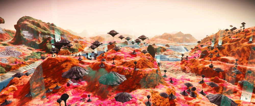 A Beautiful example of what No Man's Sky procedural generation can produce.