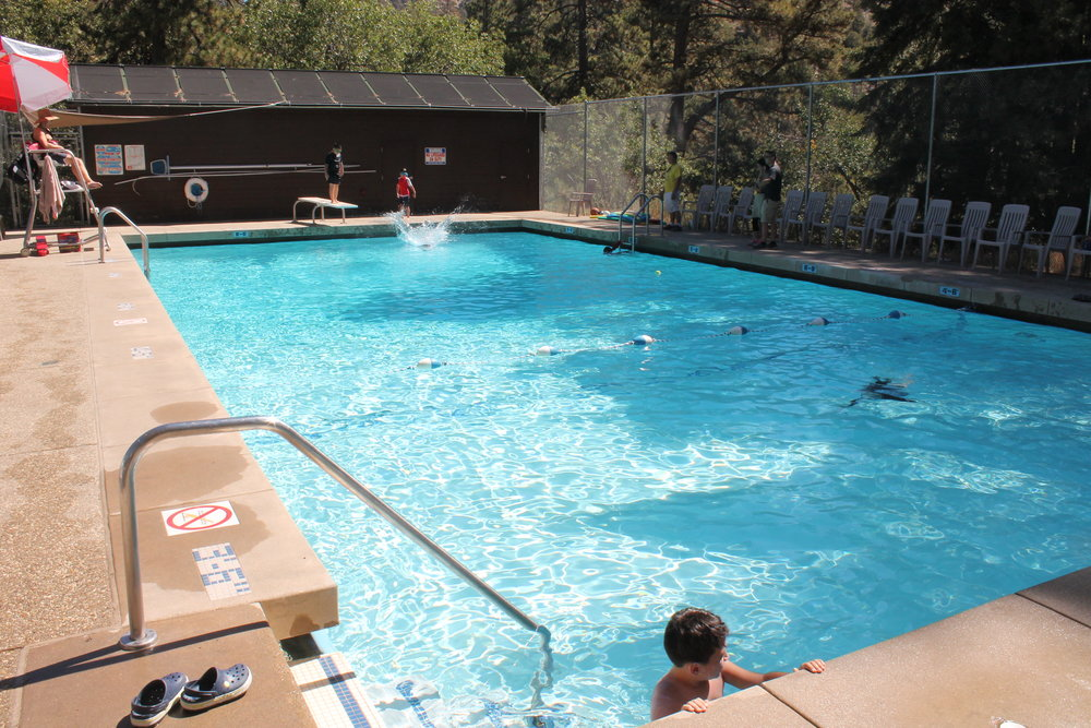 Swimming Pool - Swim in our Jr Olympic size swimming pool, supervised by qualified life guards.