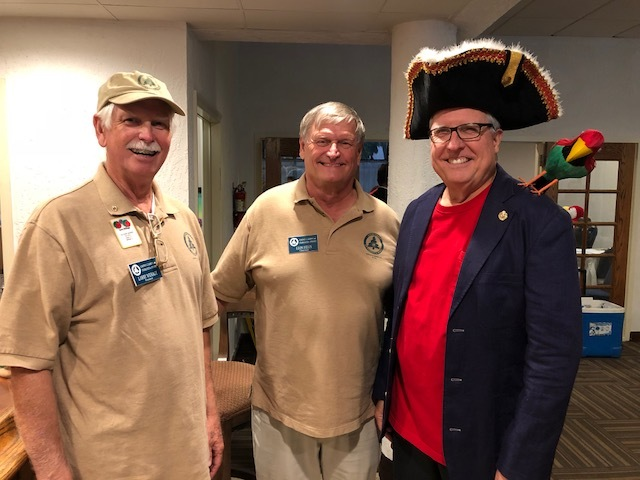 President Larry Wehage, Chairman of the Board Leon Felus, and Past International Director Larry Dicus