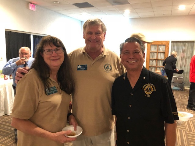 LCTP BOD Secretary Margaret Dunlevy, BOD Chairman Leon Felus, and MD-4 Endorsed Candidate for International Director Derek Ledda