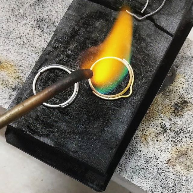 You're a wizard, Harry. #magictools  #silversmith #inprogress #makersgonnamake #pendant #studiotime #riojeweler #soldering #sterlingsilver