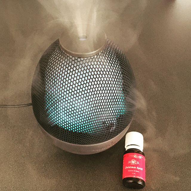 Instead of scented candles I am diffusing this wonderful Christmas Spirit therapeutic grade essential oil. I so love it and it's good for me!! Just purchased this latest diffuser from Young Living made with an exquisite and rare purple clay found only in a small region of China. Pricey but good value if you purchase it in the Premium Starter Kit. There are 3 ways to purchase from YL, straight retail, standard member or join their essential rewards program (involves a minimum monthly). Click on 'Become a Member' in their menu and use my ID 1568538 in both the Sponsor & Enroller box.  I am appreciating and benefitting from the purity of these high grade oils. Contact me through my website if you would like to chat about it. Enjoy - I am 😊 #Christmas #christmasspirit #essentialoils #christmasscent