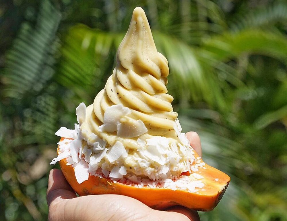 Banan - Dairy-free frozen banana soft serve.  https://www.bananbowls.com/