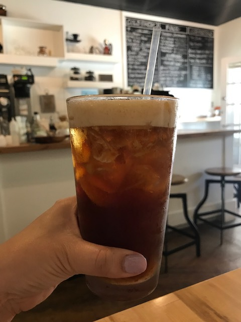 "Ali'i Coffee - Locally roasted coffee, tea, and food. Try their ""coff-tails.""  https://www.aliicoffee.com/"