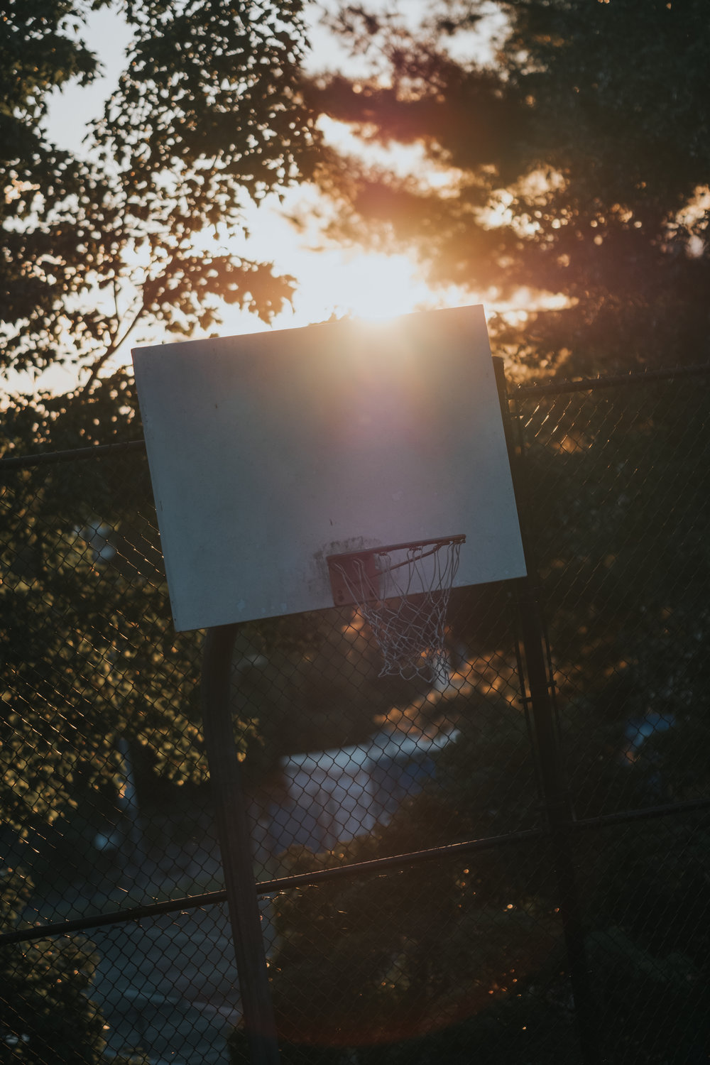 As the sun was setting for the day we spent in Asheville and my love for basketball collide!