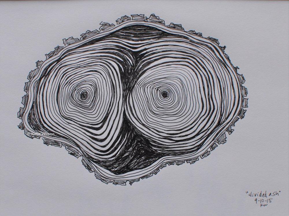 "Divided Ash, 2015  6"" x 4"""