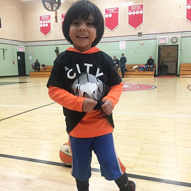 Jonathan is rocking his new City t-shirt, are you? Purchase a new City tee through the link in our bio or send us a message! We had toddler, youth and adult shirts! #thecity #thecitybasketball #basketball #newyork #youth #kids #communityovercompetition