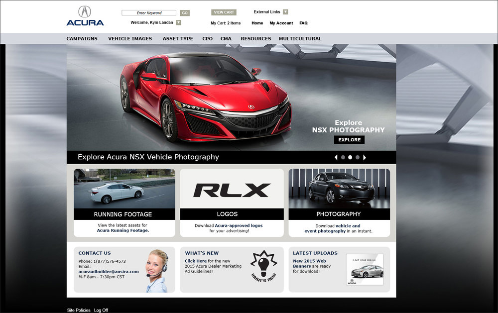 Acura Ad Builder Website — Carolyn Brown's Online Portfolio on lexus website, nissan website, porsche website, john deere website, land rover website, volkswagen website, infiniti website, honda website, aston martin website,