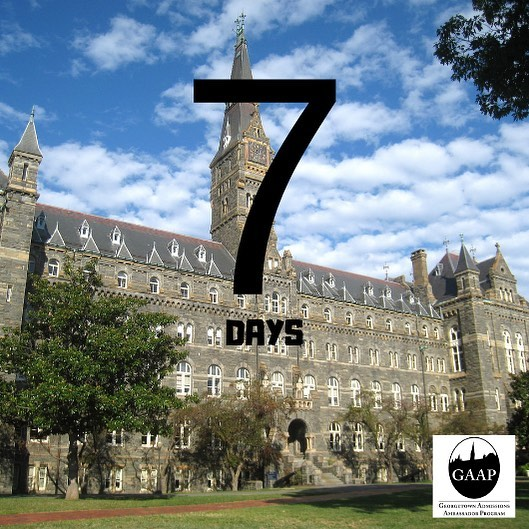 7 Days until we welcome #Hoyas2023 home to the Hilltop for EA GAAP Weekend, but who's counting?