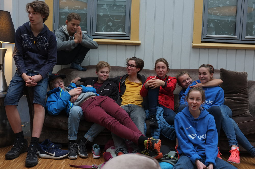 From the left: Hallvard, Thomas, Sindre, Solveig, Crimps, Heidi, Selma, Anne and Pernille.