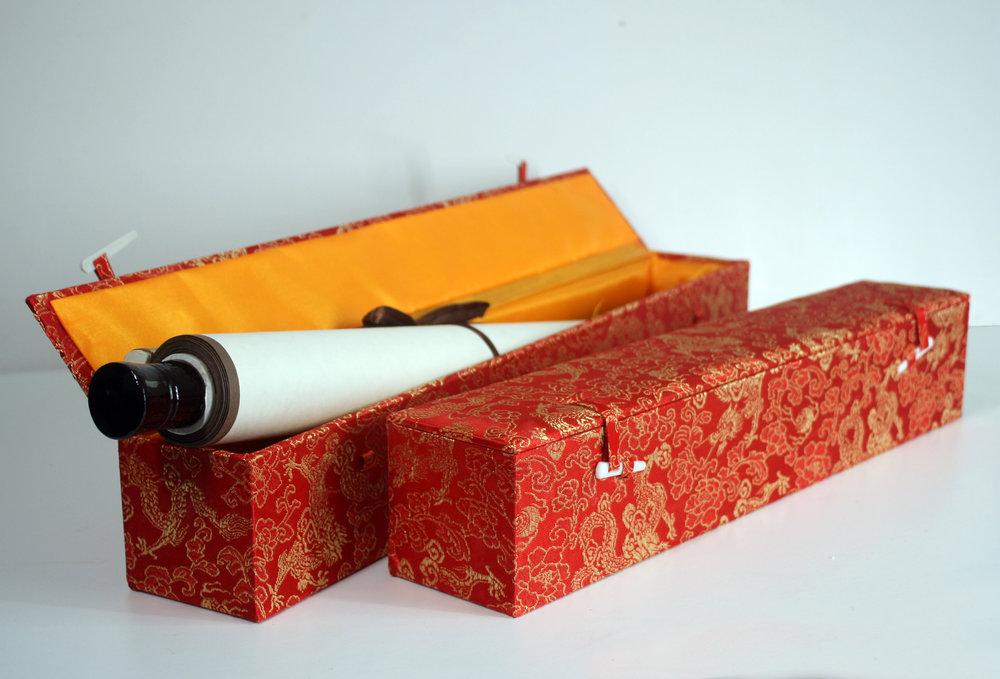 Bespoke Wedding chinese calligraphy scroll artwork gift box