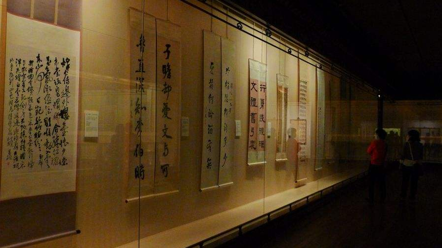 Scrolls on display at the Shanghai Museum