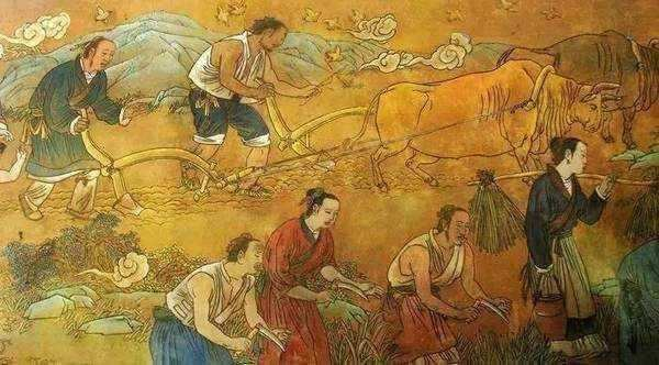 An artist's depiction of daily life during the Shang dynasty.