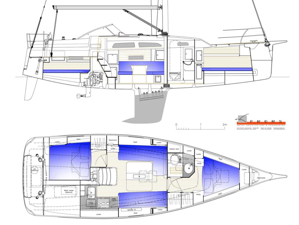 Hallberg Rassy 340 Plans