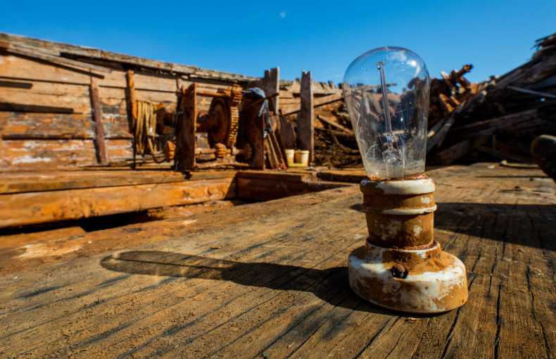 A lightbulb recovered from the Maud. Still intact after 85 years in the ice. Photo: JAN WANGGAARD / MAUD RETURNS HOME