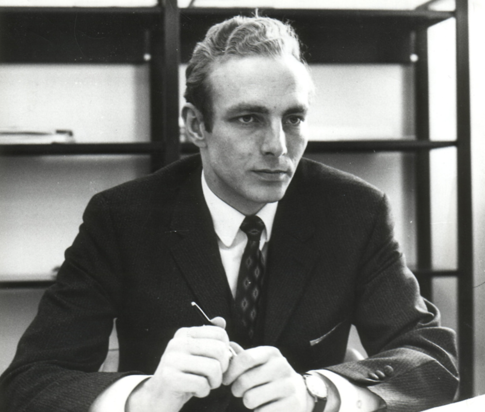 A young and ambitious Pekka Koskenkyla at his desk