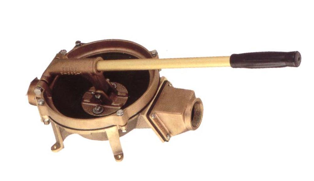 Edson Compact Manual Lever-Action Vertical Mount Pump - Bronze. Photo by Edson Pumps.