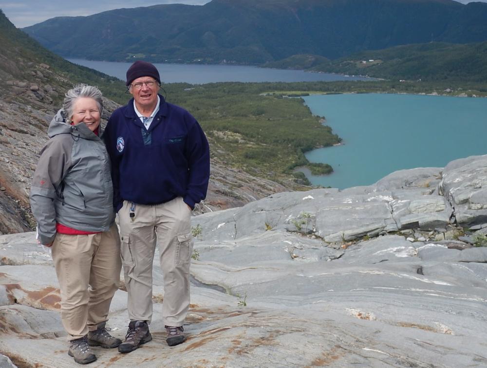 François & Valérie at Svartisen Glacier,Norway