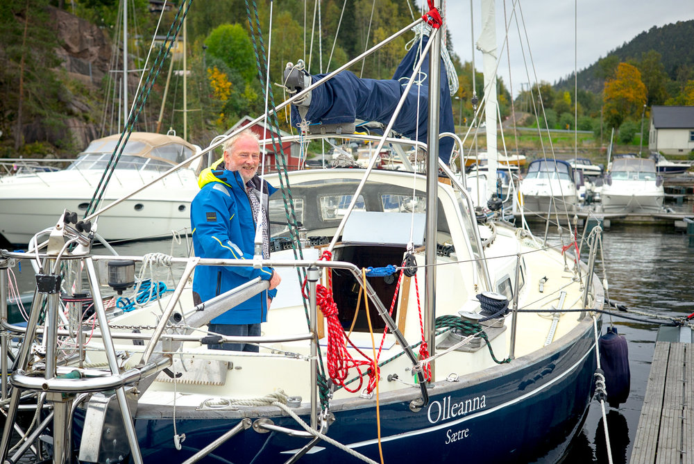 Are Wiig onboard the OE32 Olleanna in Havnevik Norway