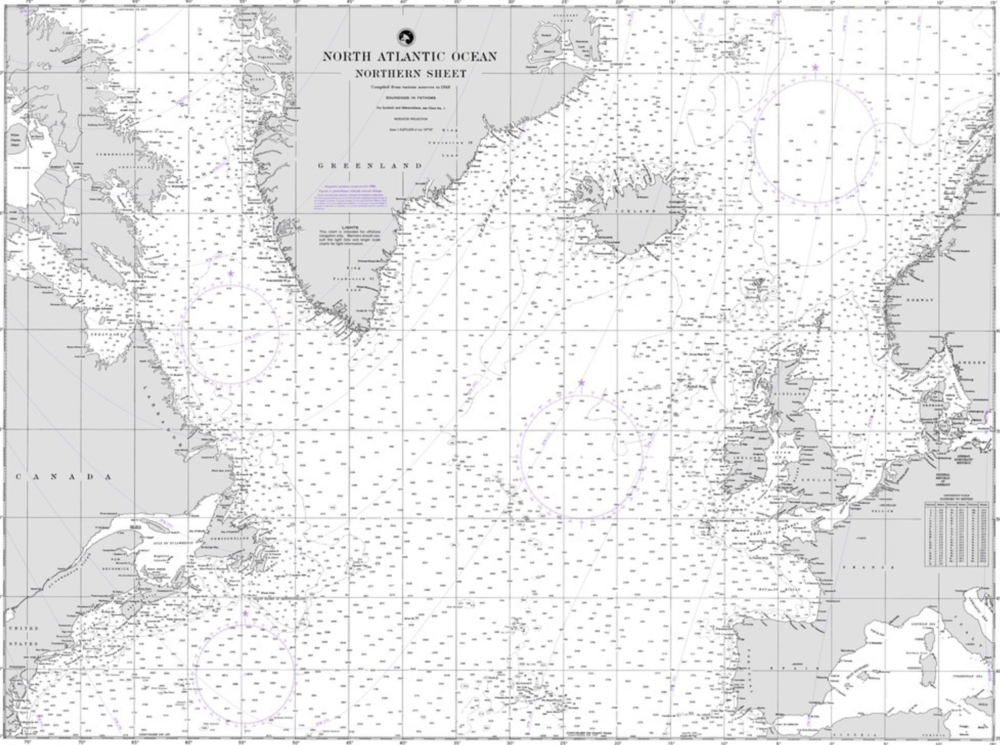 Historical map - The North Atlantic
